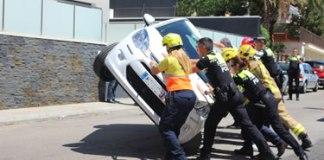 Espectacular accident de trànsit a Roses