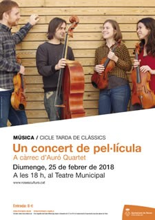Auró Quartet al Teatre de Roses