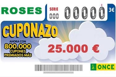El 'Cuponazo' de l'ONCE reparteix 25.000 euros a Roses
