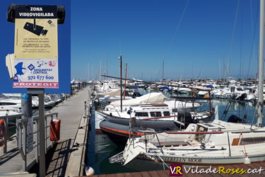 Càmeres de videovigilància al Port de Roses