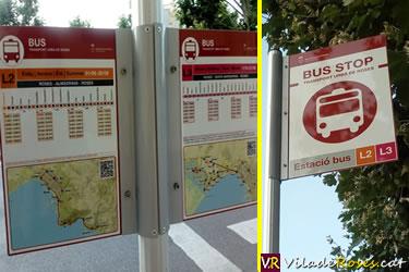 Nova senyalització del transport urbà de Roses