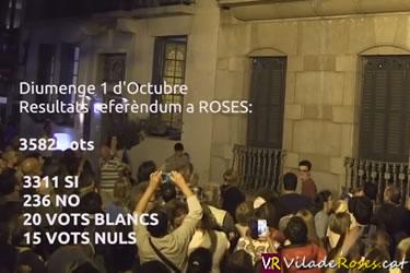Commemoració a Roses de l'1 d'octubre