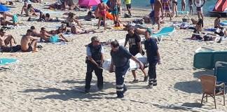 Mor un home a la plajta de Canyelles Petites