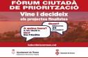 Sessió del Fòrum Ciutadà per triar els projectes dels Pressupostos Participatius 2020