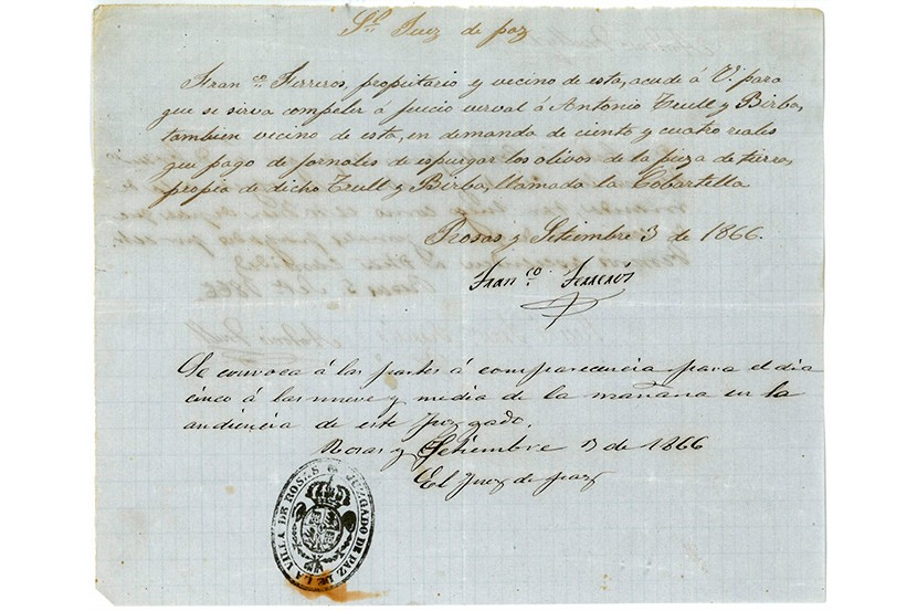 Document del Mes de l'Arxiu Municipal de Roses