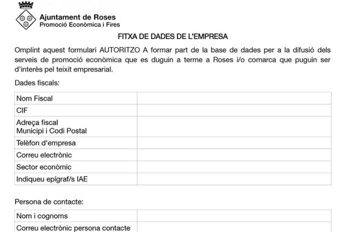 Ajuts i serveis per al sector empresarial de Roses