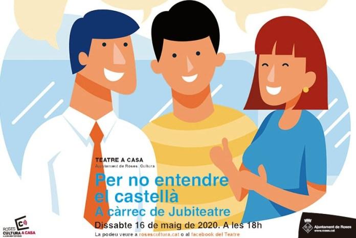 """Obra """"Per no entendre el castellà"""" virtual"""