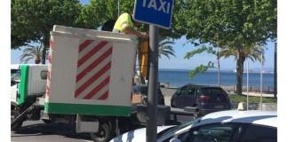 Desinfecció amb ozó dels taxis de Roses