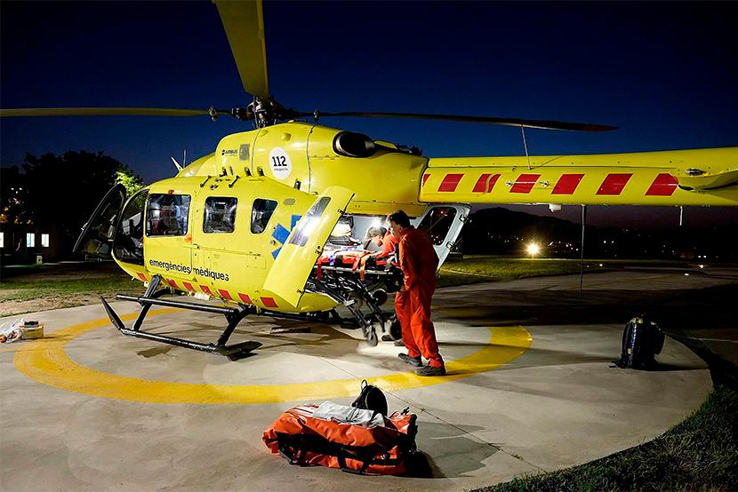 El SEM activa el vol nocturn a l'Hospital Josep Trueta de Girona