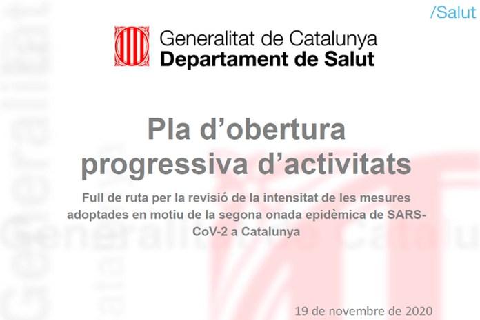 Pla d'obertura en 4 trams de les activitats afectades per fer front a la Covid-19