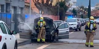 S'incendia un cotxe a Santa Margarida