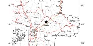 Terratrèmol de magnitud 2,5 graus a l'Alt Empordà