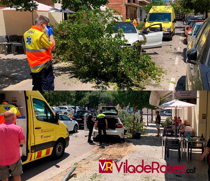 Accident de trànsit a Ca La Valeria de Roses
