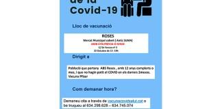 Vacunació de la Covid-19 a Roses