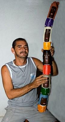 Guari e seu Totem criado para o Salão de Campina Grande