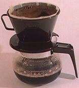 Café coado com filtro de papel