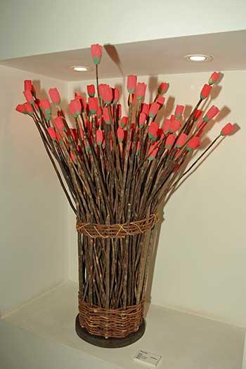 Flores de madeira do sertão por Oziel