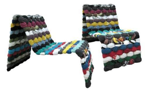 Cadeiras de camisetas de Maria Westerberg, um luxo