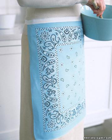 Avental feito com bandana