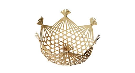 Cesto com design feito em bambú