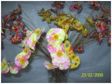 Flores decorativas recortadas das chita