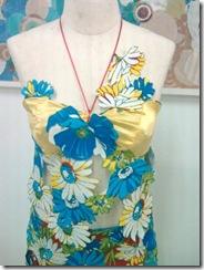 Detalhes do Busto do vestido de chita