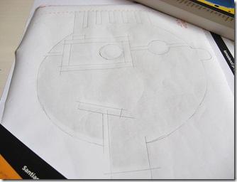 Faça o desenho sobre o papel contact