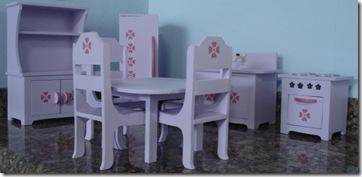 Cozinha completa em miniatura