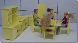 Jogo de cozinha em miniatura