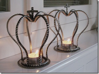 Coroas para emoldurar as velas