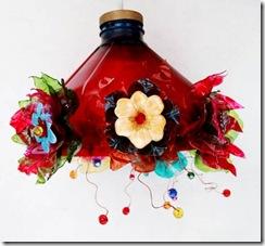 Luminária do projeto flores de pet de Laila Assef