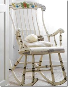 Cadeira de balanço em pátina provençal