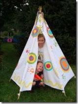 Veja a alegria das crianças na tenda de índio