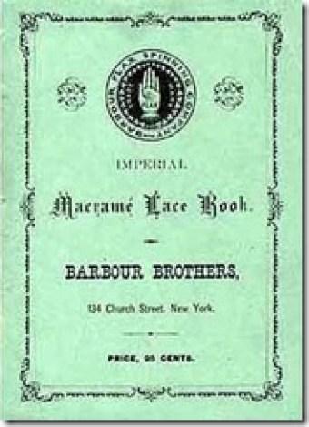 Antigo livro de pontos de macramê