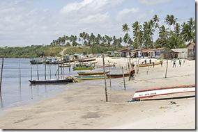 Ponto de desembarque dos pescadores de Acaú