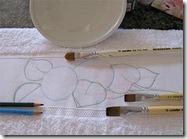Faça o desenho no barrado, para pintar