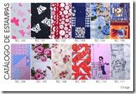 Catálogo de estampas em tecido da Artefinotrapo página um