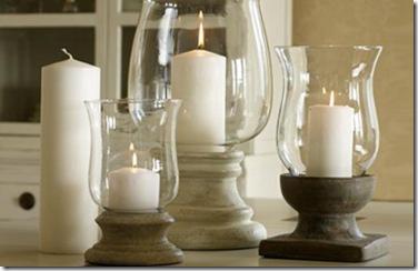 Castiçais rústicos e elegantes para a mesa