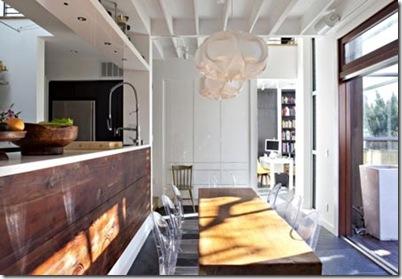 Decorao moderna com revestimentos de madeira  Vila do