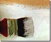 Pintando com base em PVA branca