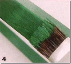 Pinte as laterais e os pés da cadeira de verde