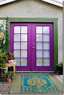 Porta colorida, alegre e despojada