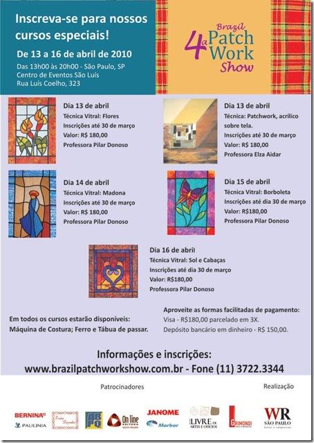 Programação dos cursos da Brazil Patchwork Show