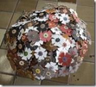 Flores em couro para fazer arranjos decorativos