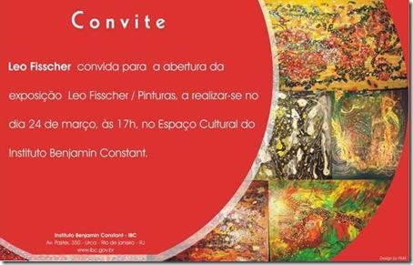 Convite para a exposição de Leo Fisscher