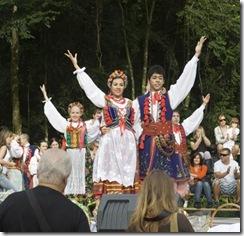 Casais do grupo de danças polonesas