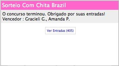 Resultado sorteio Com Chita Brasil