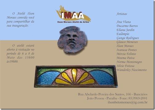 Convite de inauguração do IMAA