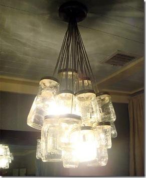 Potes de geléia viram uma luminária cheia de estilo