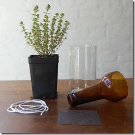 Material para fazer a horta